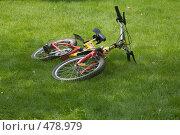 Купить «Велосипед на траве», фото № 478979, снято 17 августа 2008 г. (c) Владимир Воякин / Фотобанк Лори