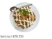 Купить «Грибной салат под майонезом», фото № 479731, снято 19 сентября 2008 г. (c) Федор Королевский / Фотобанк Лори