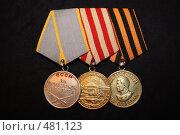 Боевые медали (2008 год). Редакционное фото, фотограф Владимир Борисов / Фотобанк Лори