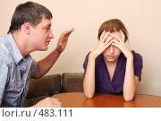 Купить «Конфликт между супругами», фото № 483111, снято 28 сентября 2007 г. (c) Гладских Татьяна / Фотобанк Лори