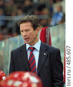 Тренер Вячеслав Быков (2008 год). Редакционное фото, фотограф Андрей Голубев / Фотобанк Лори