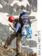 Купить «Альпинистка», фото № 487171, снято 13 июля 2008 г. (c) Максим Горпенюк / Фотобанк Лори