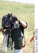 Видеооператор за работой. Пресса (2007 год). Редакционное фото, фотограф Виктор Водолазький / Фотобанк Лори