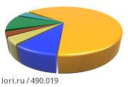 Секторная диаграмма. Стоковая иллюстрация, иллюстратор Панюков Юрий / Фотобанк Лори