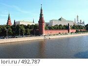 Московский Кремль в лучах утреннего солнца (2008 год). Стоковое фото, фотограф Сергей / Фотобанк Лори