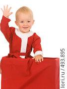 Купить «Маленький Санта», фото № 493895, снято 30 августа 2008 г. (c) Валентин Мосичев / Фотобанк Лори