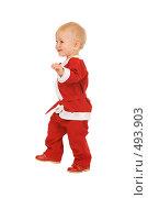 Купить «Маленький Санта», фото № 493903, снято 30 августа 2008 г. (c) Валентин Мосичев / Фотобанк Лори