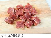 Купить «Куски мяса на разделочной доске», фото № 495943, снято 22 августа 2019 г. (c) Александр Fanfo / Фотобанк Лори