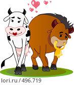 Бычок и коровка. Стоковая иллюстрация, иллюстратор Лопатин Антон / Фотобанк Лори