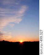 Купить «Закат», фото № 499327, снято 22 января 2019 г. (c) ElenArt / Фотобанк Лори