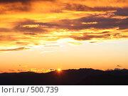 Закат солнца в горах Италии. Стоковое фото, фотограф Андрей Гривцов / Фотобанк Лори