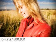Купить «Портрет девушки», фото № 500931, снято 3 октября 2008 г. (c) chaoss / Фотобанк Лори