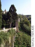 Тиволи, вилла Д'эсте, стена в парке. Стоковое фото, фотограф Петр Бюнау / Фотобанк Лори