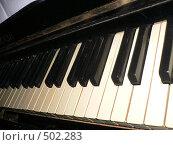Купить «Старое фортепиано», фото № 502283, снято 2 июня 2008 г. (c) Баева Татьяна Александровна / Фотобанк Лори