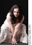 Купить «Девушка лягушка», фото № 505151, снято 28 мая 2008 г. (c) Варвара Воронова / Фотобанк Лори