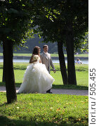 Купить «Свадебная пара.  Кусково», эксклюзивное фото № 505455, снято 16 августа 2008 г. (c) Дмитрий Неумоин / Фотобанк Лори