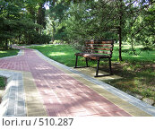 Купить «Скамейка в парке», фото № 510287, снято 5 октября 2008 г. (c) Насыров Руслан / Фотобанк Лори