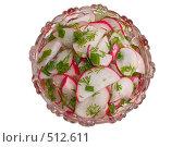 Салат из редиса с зеленью укропа и лука. Стоковое фото, фотограф Федор Королевский / Фотобанк Лори