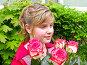 Портрет девочки с розами, фото № 516315, снято 22 мая 2007 г. (c) Светлана Силецкая / Фотобанк Лори