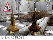Купить «Замена трубопровода», фото № 518595, снято 15 октября 2008 г. (c) Юлия Подгорная / Фотобанк Лори