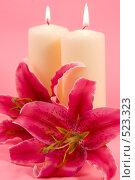 Купить «Лилии и свечи», фото № 523323, снято 12 августа 2008 г. (c) Елена Блохина / Фотобанк Лори