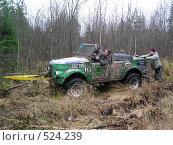 Гонки на джипах по Карельским лесам и болотам (2007 год). Редакционное фото, фотограф Сергей Карцов / Фотобанк Лори