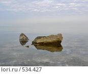 Купить «Камни, отраженные в воде», фото № 534427, снято 9 марта 2008 г. (c) Роман Мельник / Фотобанк Лори