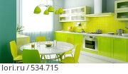 Купить «Интерьер современной кухни», иллюстрация № 534715 (c) Дмитрий Кутлаев / Фотобанк Лори