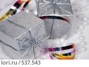 Купить «Новогодние украшения и подарки», фото № 537543, снято 28 октября 2008 г. (c) Логинова Елена / Фотобанк Лори