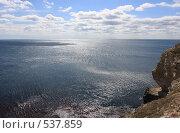 Купить «Морской пейзаж с облаками», эксклюзивное фото № 537859, снято 14 сентября 2008 г. (c) Дмитрий Неумоин / Фотобанк Лори