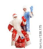 Купить «Дед Мороз и Снегурочка», фото № 538175, снято 19 октября 2008 г. (c) Фурсов Алексей / Фотобанк Лори