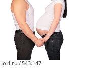 Купить «Беременная женщина и мужчина», фото № 543147, снято 19 января 2019 г. (c) Losevsky Pavel / Фотобанк Лори