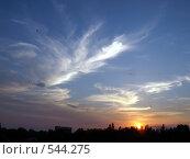 Перистый закат. Редакционное фото, фотограф Александр Кралин / Фотобанк Лори