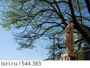 Купить «Выборг. Женщина с шестеренкой», эксклюзивное фото № 544383, снято 11 мая 2008 г. (c) Ольга Визави / Фотобанк Лори