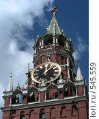 Купить «Москва. Кремль. Спасская башня», эксклюзивное фото № 545559, снято 30 мая 2008 г. (c) lana1501 / Фотобанк Лори