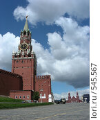 Купить «Москва. Кремль. Спасская башня», эксклюзивное фото № 545567, снято 30 мая 2008 г. (c) lana1501 / Фотобанк Лори
