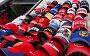 """Продажа сувениров """"Бейсболок"""" 2008 г, эксклюзивное фото № 545907, снято 4 ноября 2008 г. (c) Дмитрий Неумоин / Фотобанк Лори"""
