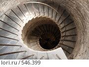 Спиральная лестница в Исаакиевском соборе в Санкт-Петербурге. Стоковое фото, фотограф Михаил Коханчиков / Фотобанк Лори