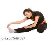 Купить «Девушка занимается гимнастикой», фото № 549087, снято 13 июля 2008 г. (c) Валентин Мосичев / Фотобанк Лори