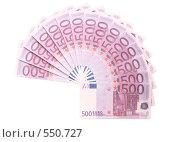 Купить «Полукруг из банкнот евро», фото № 550727, снято 16 октября 2019 г. (c) Losevsky Pavel / Фотобанк Лори