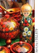 Купить «Плошки и матрешки», фото № 552879, снято 21 сентября 2008 г. (c) Ольга Лерх Olga Lerkh / Фотобанк Лори