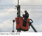 Электромонтёр (2008 год). Редакционное фото, фотограф Алла Виноградова / Фотобанк Лори