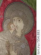 Купить «Икона вышитая», фото № 554883, снято 1 ноября 2008 г. (c) Ольга Лерх Olga Lerkh / Фотобанк Лори