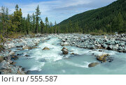Купить «Алтай. Река Аккем», фото № 555587, снято 13 апреля 2007 г. (c) Игорь Потапов / Фотобанк Лори