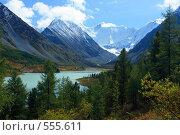 Купить «Алтай. Озеро Аккемское. Вид на гору Белуху», фото № 555611, снято 14 апреля 2007 г. (c) Игорь Потапов / Фотобанк Лори