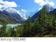 Купить «Алтай. Озеро Аккемское. Вид на гору Белуху», фото № 555643, снято 14 апреля 2007 г. (c) Игорь Потапов / Фотобанк Лори