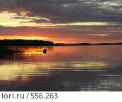 Красивый закат на реке. Стоковое фото, фотограф Галина Гуреева / Фотобанк Лори