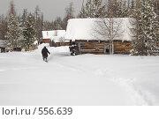 Деревня после снегопада. Стоковое фото, фотограф Иван Алферов / Фотобанк Лори