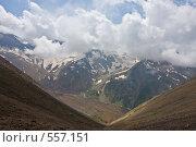 Купить «Вид на хребет Куршоу и долину Уллухурзук», фото № 557151, снято 3 августа 2008 г. (c) Vladimir Fedoroff / Фотобанк Лори