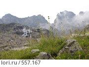 Купить «Восхождение к Куршоу, Западный Кавказ», фото № 557167, снято 4 августа 2008 г. (c) Vladimir Fedoroff / Фотобанк Лори